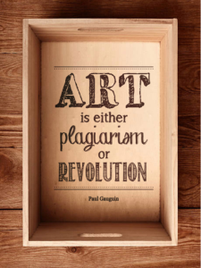 Art is either plagiarism or revolution sticker Free Vector Cdr