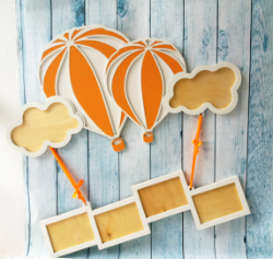Air Balloon Frame Laser Cut Free Vector Cdr
