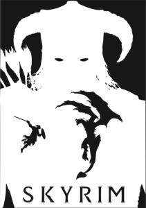Skayrim Poster Free Vector Cdr