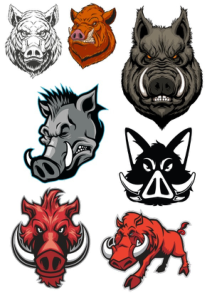 Boar Set Vectors Free Vector Cdr