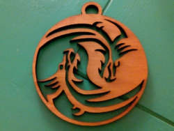 Dragon Yin Yang laser cut Free Vector Cdr