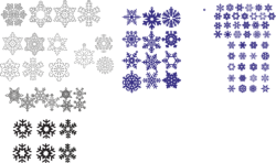 Snowflakes Vector Set Free Vector Cdr