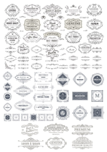 Vintage Elements Collection Free Vector Cdr