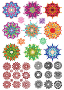 Indian Ornament Collection Free Vector Cdr