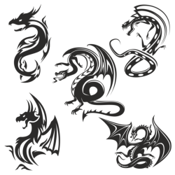 Dragons vector Free Vector Cdr