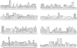 Line City Set Free Vector Cdr