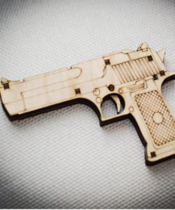 Pistol 3D Laser Cut Free Vector Cdr
