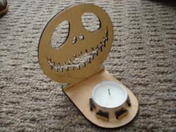 Halloween Candlestick Laser Cut Free Vector Cdr