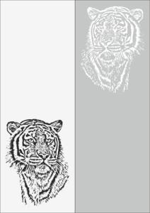 Sandblast Pattern Tiger Free Vector Cdr