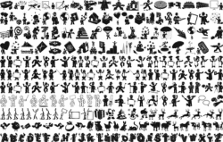 Large Collection Silhouettes Free Vector Cdr
