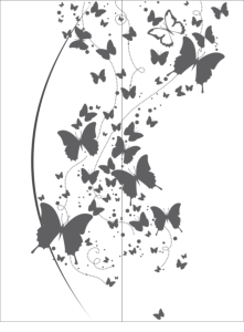 Flying Butterfly Clipart Black And White vector Free Vector Cdr