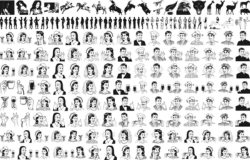 People Mix Lineart Pack Free Vector Cdr