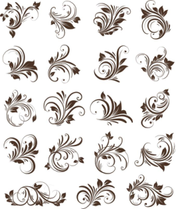 Floral Ornaments Element Vector Free Vector Cdr
