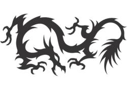 Dragon Vector Silhouette Free Vector Cdr