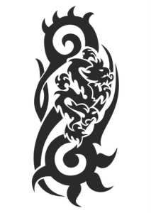 Dragon Black And White Vector Free Vector Cdr