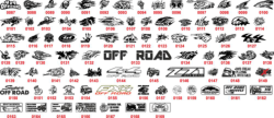 Off Road Sticker bomb Vectors Free Vector Cdr