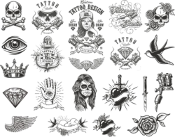Tattoo Compositions Pack Free Vector Cdr