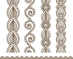Mehndi style ornamental border Free Vector Cdr