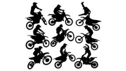 Motocross Vector Art Free Vector Cdr
