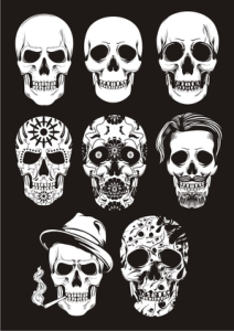 Mexican Skull Art Free Vector Cdr