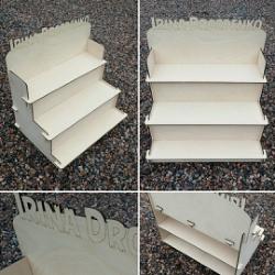 Decorative Stair Step Shelf Organizer 6 Mm Free Vector Cdr