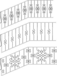 Wrought Iron Stairs Railing Free Vector Cdr