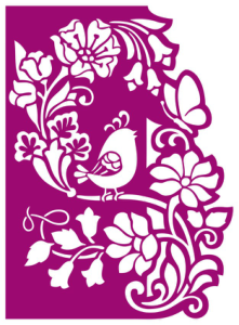 Floral panel with bird cnc router laser cutting Free Vector Cdr