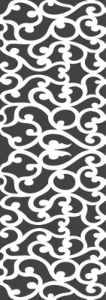 Wood carving cutout pattern Free Vector Cdr