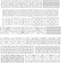 Collection Of Band Ornaments Free Vector Cdr