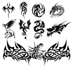 Dragon Tattoo Vectors Free Vector Cdr