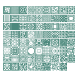 Square Ornaments Vectors Free Vector Cdr