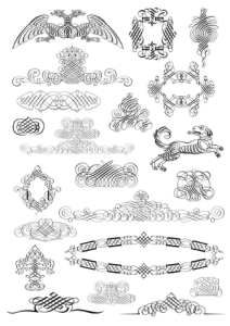 Free Vectors Caligraf Decor Free Vector Cdr