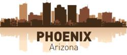 Phoenix Arizona skyline city silhouette vector Free Vector Cdr