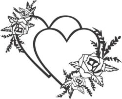 Flowers wedding design Free Vector Cdr