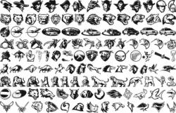 Mix Icons vectors Free Vector Cdr