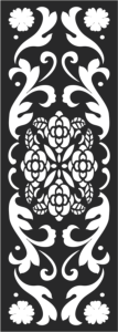 Black And White Floral Pattern Free Vector Cdr