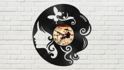 The Head of a Girl Vinyl Clock Free Vector Cdr