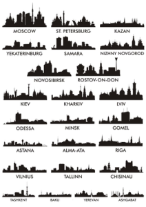 City Silhouette Vectors Free Vector Cdr