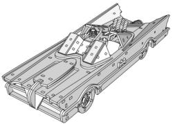 Batmobile 3d puzzle Free Vector Cdr