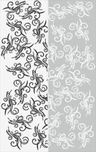 可爱的花朵图案背景矢量线条 Free Vector Cdr