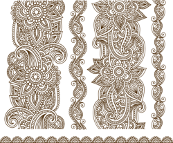 Vector Illustration Of Mehndi Free Vector Cdr
