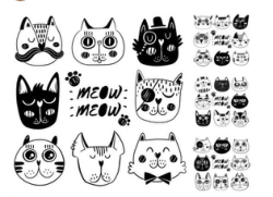 Doodle Cat Illustration Vector Art Free Vector Cdr