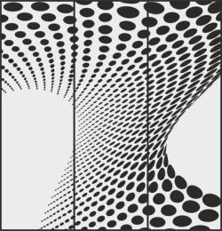 Abstract Circles Drawing For Sandblasting Mirrors Free Vector Cdr
