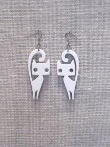Cat Earrings Laser Cut Free Vector Cdr