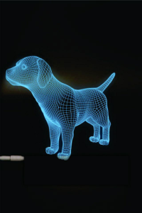 Dog  3D LED Night Light Free Vector Cdr