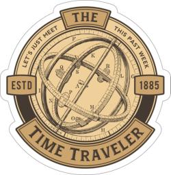 Time Traveler Sticker Free Vector Cdr