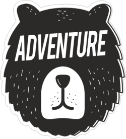 Adventure Sticker Free Vector Cdr