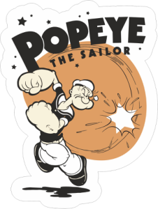 Popeye The Sailor Sticker Free Vector Cdr