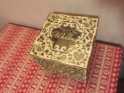 Wedding Box Laser Cutting Free Vector Cdr