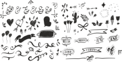 Handdrawn Decor Set Free Vector Cdr